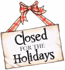 City Offices Closed & History Center Holiday Hours