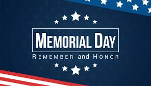 Memorial Day: City Closed- American Legion Celebration at 10a.