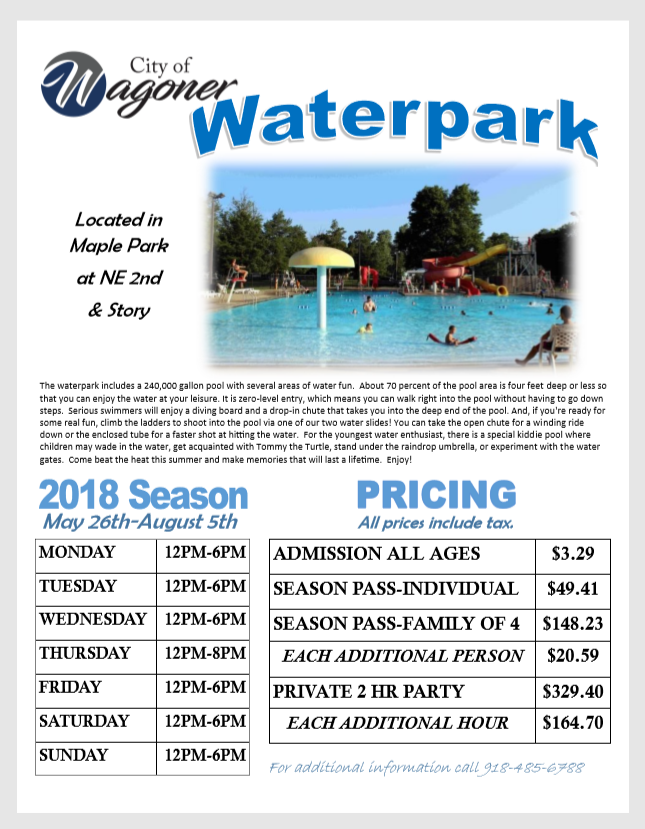 Waterpark Set to Open May 25th